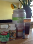 Some of my nutrition products to aid bone healing